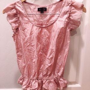 Tops - Pink Women's sleeveless shirt top size M